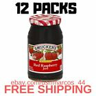 (12 Pack) Smucker's Seedless Red Raspberry Jam, 18-Ounce