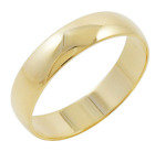 Men's 10K Yellow Gold 5mm Traditional Plain Wedding Band Available Ring Sizes