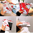 New Cute 3D Anime Cartoon kitty cat Soft Phone Case Cover For iPhone 6-XS Max