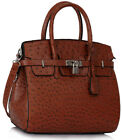 Ladies Handbags Designer New Women's Ostrich Style Tote Bags Faux Leather