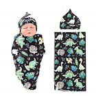 NZRVAWS Newbron Receiving Blankets for Boys Dinosaur Baby Swaddle Wrap Soft Zoo