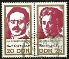 Germany (East) DDR GDR 1971 Used Birth Centenary Karl Liebknecht Rosa Luxemburg
