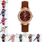 Fashion Women Leather Casual Watch Luxury Analog Quartz Crystal Wristwatch Sport image