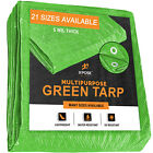 Green Poly Tarp Cover Multi-Purpose 5 Mil, Tent Shelter RV Camping Tarp