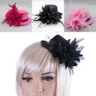 Women Fascinators Hat Girls Flower Feathers Hairpin Tea Party Headwear New