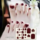 DIY 3D Stickers Decals Striped Red Plaid Each Give 1Pcs Nail File Nail Stickers