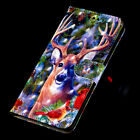 King Of Milu Deer Multifunction Card Slot Pocket Wallet Leather Case Cover Strap