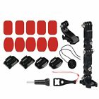 Motorcycle Bike Helmet Chin Support Fix Mount Holder Photo Shoot Fit For GoPro