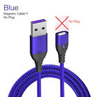 Magnetic Type-C LED Fast Charging Cable Date Charger For Samsung S10 Huawei