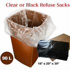 Clear Refuse Sacks Medium Duty Bin Bags | trash Bags | to contain rubbish