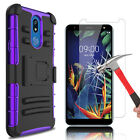 For LG K40/Solo 4G LTE/K12 Plus Case With Kickstand Belt Clip + Screen Protector