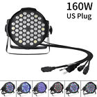 LED RGBW Stage 160W 100W Light Flat Par Lamp DMX512 Club DJ Party Disco Lighting
