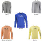 Huk H1200150, Pursuit Vented Long Sleeve Shirt, White, Beach Peach, Grey, Butter