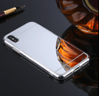 For iPhone 8 X 7 Plus XS Max Shockproof Armor Luxury Mirror Hard Back Case Cover