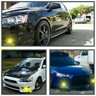 For 2002-2018 Mitsubishi Lancer ES DE Gold yellow Bumper Driving Fog Lights Kit