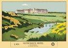 VINTAGE RAILWAY POSTER Gleneagles Golf Hotel Scotland LMS Advert ART PRINT A3 A4