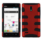 Fishbone Hard Shell +Silicone Rugged Cover Case for LG Optimus L9 P769