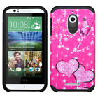 For Desire 510 Hard Design +Silicone Cover Protector Case