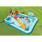 Inflatable Jungle Play Center Pool With Slide Spray Wading Pools For Kids New