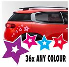 34 Star Stickers Vinyl Decal Kit Flower Car Ds3 Wall Saxo Mini Vw Beetle Camper