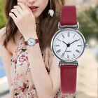 Women Fashion Rome Numerals Small Dial With Leather Analog Quartz Wrist Watch image