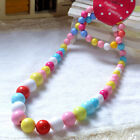Princess Girls Colorful Beads Necklace Kids Baby Bracelet Toddler Jewelry Bump