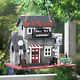 Large Bird House Wood Wooden Hanging Standing Manor Painted Birdhouse photo