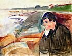 Evening Melancholy by Edvard Munch. Fine Art Repro choose Canvas or Paper