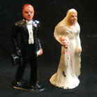 Vintage 1940 Barclay Iron Metal Bride and Groom Wedding Cake Topper
