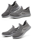 Mens Lightweight Safety Shoes Steel Toe Work Boots Sports Hiking Shoes Trainers