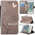 Bling PU Leather Wallet Diamonds Card Slots Stand Blet Case Cover #