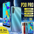 P30 Pro 100% Unlocked 8gb+64gb Dual Sim Android 9.0 Smart Phone Face Fingerprint