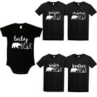 Papa Mama Baby Bear T Shirt Mom Daughter Dad Son Family Matching Clothes Outfits