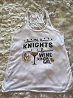 Vegas Golden Knights and Wine Kind Of Girl Tank Top $10.0 USD on eBay