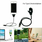 Lazy Stand Up Charging Cable Flexible Phone Holder Bracket USB Charger iPhone XE