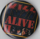 KISS Alive II Vintage Pin Button Rock Music 80's Gene Simmons Ace Frehley Peter