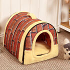 New Pet Dog Cat Bed House Mat Bedding Basket Kennel Washable Warming Cute