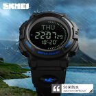 Men Tactical Military Compass Outdoor Sports Stopwatch Digital Wrist Watch 5 ATM image