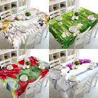 Modern 3D printed Tablecloth Washable Table Cover dustproof Clean dining Decor