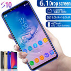 "6.1"" S10 Unlocked Android 9.1 4g+64g 16.0mp+8.0mp Dual Sim 4 Core Smartphone Au"