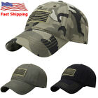 Low Profile Stretch Fit Golf Baseball Cap Embroidered Unisex Women Men Hat USA