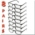 READING GLASSES UNISEX MEN WOMEN STYLE FRAME LOT READER 8 PACK BEST DEAL NEW