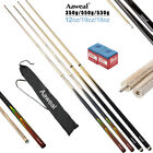 """58"""" FULL LENGTH WOODEN POOL SNOOKER BILLIARD CUES SET with Screw Tips Stick $18.59 AUD on eBay"""