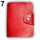 Men Women 24 Card ID Credit Card Holder Faux Leather Case Purse Wallet Cosy