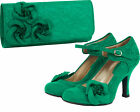 Ruby Shoo Anna Lace Shoe / Milan Bag /Set Green Red Purple Blue Belle Divino Ltd <br/> Set Exclusive to Belle Divino &Full Range of Ruby Shoo