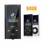 Portable HiFi MP3 Music Player FM Lossless Sound Recorder up to 64GB + earphone