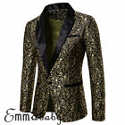 Men's Suit Coat Tops Business Formal Blazer Slim Fit One Button Casual Jacket