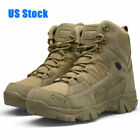 Men's Military Tactical Boots Hiking Combat Shoes Army Work  Waterproof High Top