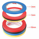 Protection Tape 5mm 10mm Detailing Car Painting Masking Blue Red Black Yellow