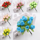 Artificial Rose Flower Mini 12 Heads Per Bunch Bouquet Home Decoration Wedding